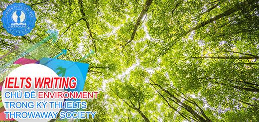 bài viết mẫu band 7.5 IELTS - IELTS chủ đề environment - ielts cấp tốc